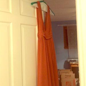 Lulus Heavenly Hues dress Rusty Rose